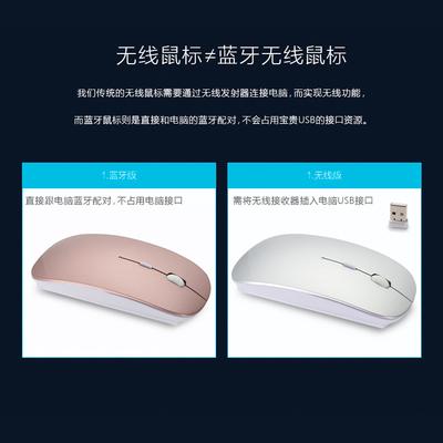 2017新款苹果索尼笔记本电脑无线超薄蓝牙鼠标便携充电办公静音