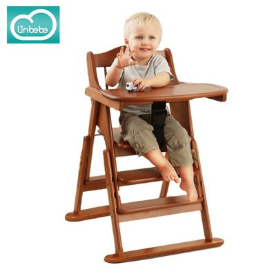 嬰兒餐椅實木可折疊便攜式寶寶吃飯餐桌兒童餐椅德國櫸木品牌排行