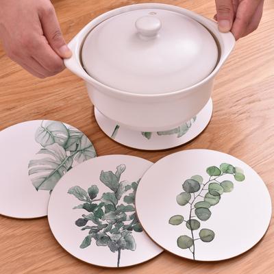 2个装 软木锅垫防烫碗垫餐垫欧式日式北欧Ins木质隔热垫防滑桌垫