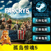 PC正版中文 孤岛惊魂5 Steam/uplay Far Cry 5 远哭5 季票DLC银条