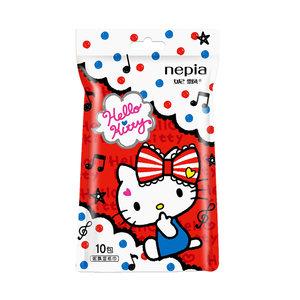 妮飘湿纸巾/湿巾 Hello Kitty 无香型 独立10片 随机