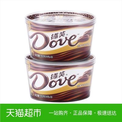 Dove/德芙丝滑牛奶巧克力252g*2碗装纵享新丝滑甜蜜糖巧