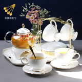 Cooking fruit teapot set net safflower tea heated ceramic European-style tea cup cup English afternoon tea set