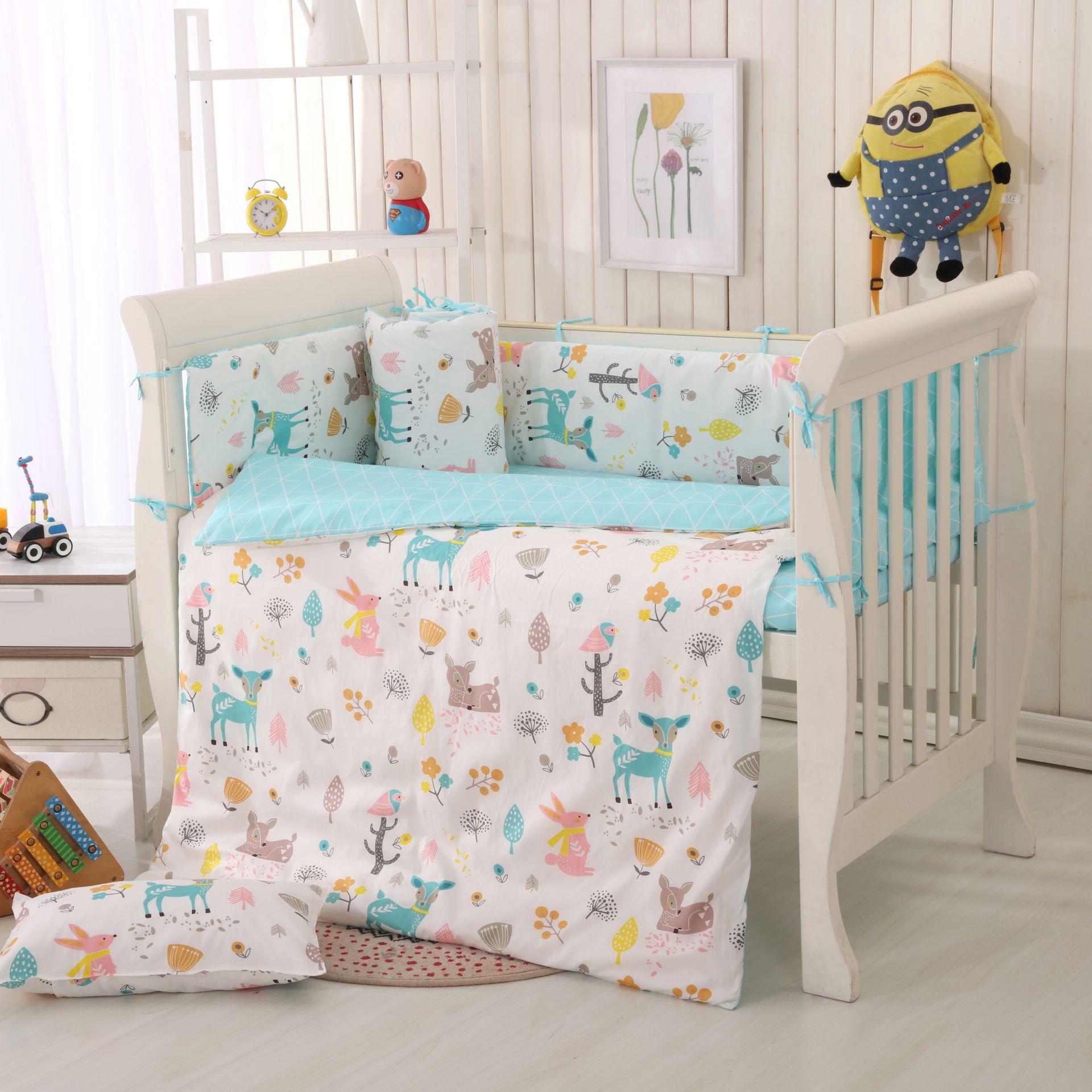 婴幼儿床品新生儿全棉被罩婴儿床被套单件儿童宝宝被单床上用品