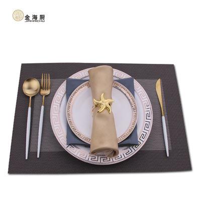 金海厨酒店摆台创意欧式家用盘子样板房餐具碗勺碟陶瓷菜盘金边盘