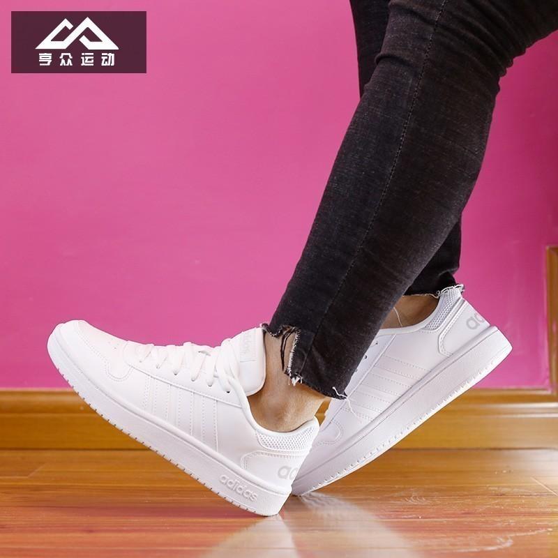 阿迪达斯板鞋女鞋2019夏季新款透气低帮小白鞋轻便休闲鞋运动鞋