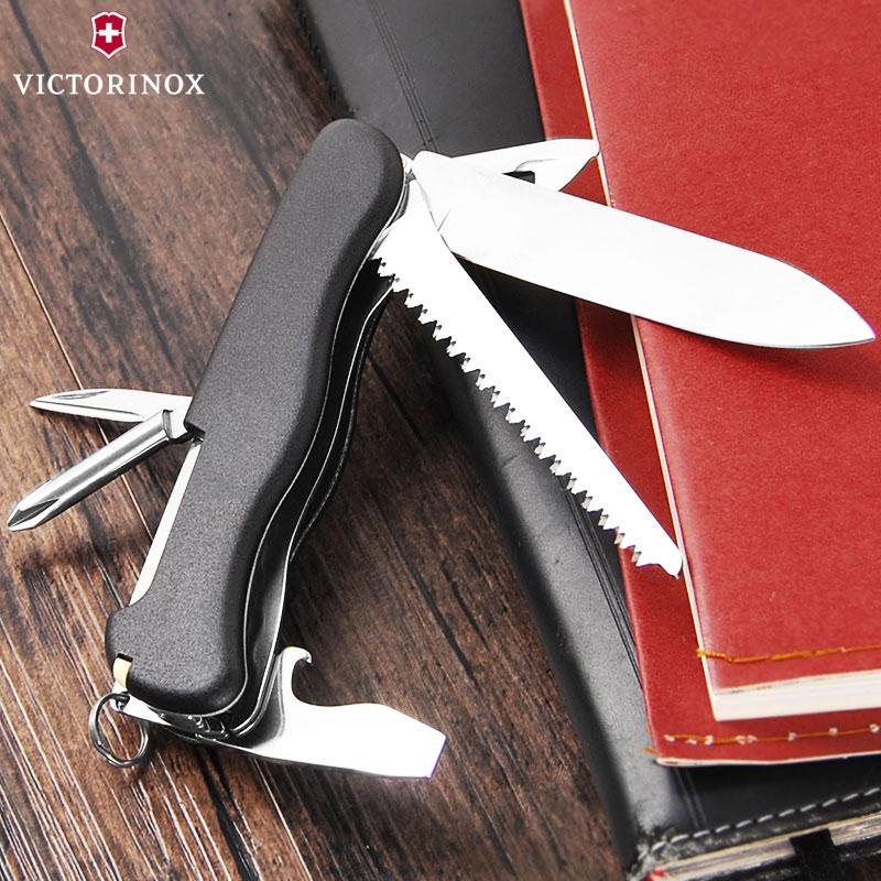 原装正品维氏瑞士军刀追猎者(黑)0.8463.3多功能折叠瑞士刀正版