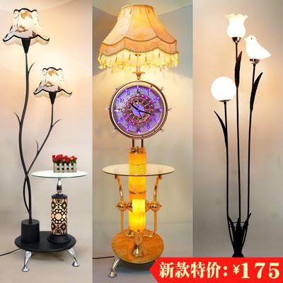 落地灯客厅茶几简约现代卧室护眼LED遥控立式台灯创意欧式钟表灯评价好不好