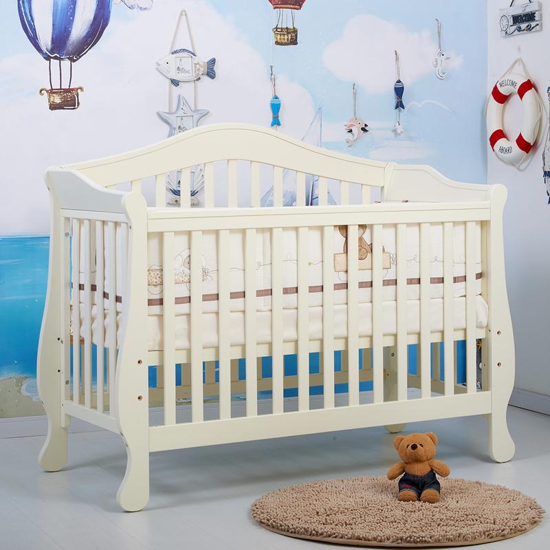 高端多功能松木婴儿床
