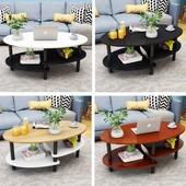 北欧茶几简约现代小户型客厅简易小茶桌椭圆形创意阳台矮桌经济型