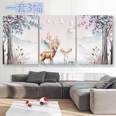 三幅画客厅装饰抽象网友购买经历