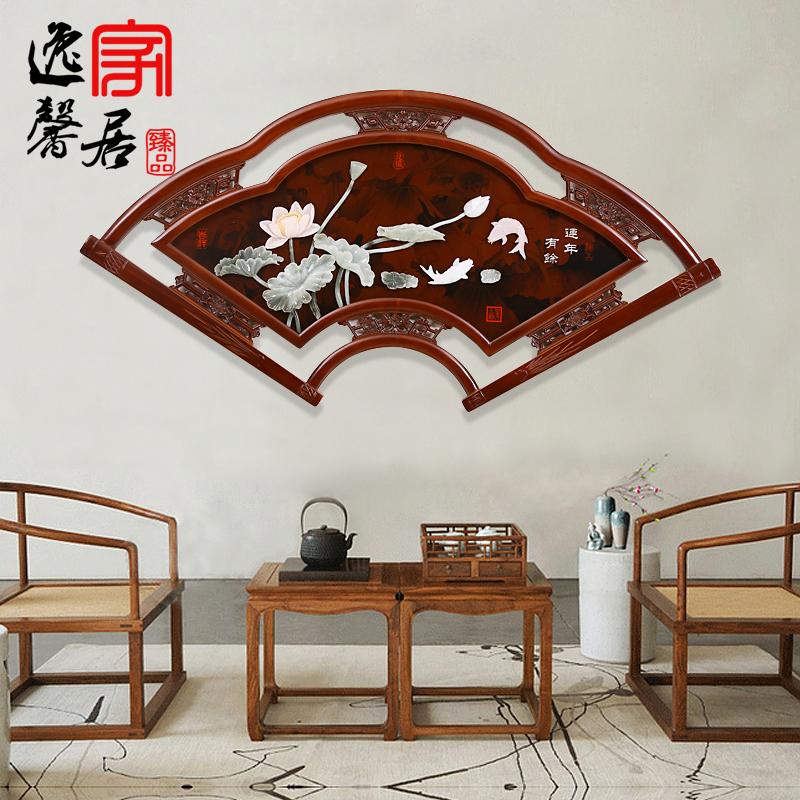 中式玄关木雕挂画