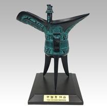 Antique bronze père Xin je pur cuivre bouteille de vin tasse de vin coupe ornements antiques collection antique