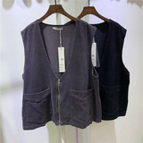 Mujia Fall 2009 Korean Version Loose Large Edition Corduroy Retro Zipper vest vest vest and waistcoat