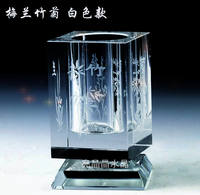 Crystal pen holder rotating creative office teacher class reunion transparent lettering practical annual meeting new year employee gift