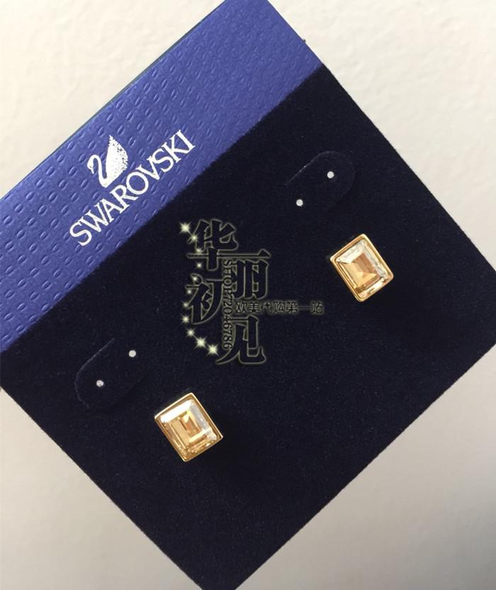 国内现货 美国施华洛世奇专柜金色水晶耳钉 精致穿孔耳钉5073006