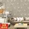 新中式壁纸梅花3d鹿皮绒加厚无纺布奢华卧室玄关客厅电视背景墙纸