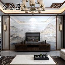 3d高温微晶石瓷砖背景墙 大理石电视瓷砖背景墙壁画石纹 山水之韵
