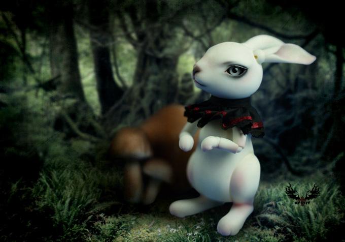 [鬼契人型]兔子—Herber(BJD娃娃8分动物)