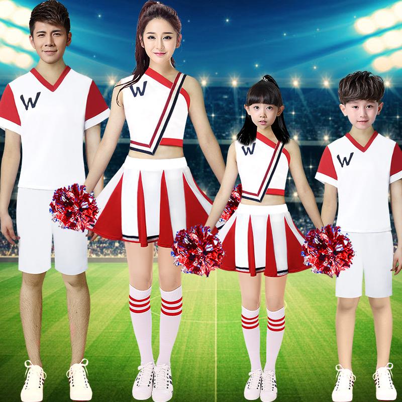 啦啦队服装女六一儿童演出服套装幼儿园小学生少儿表演运动会班服