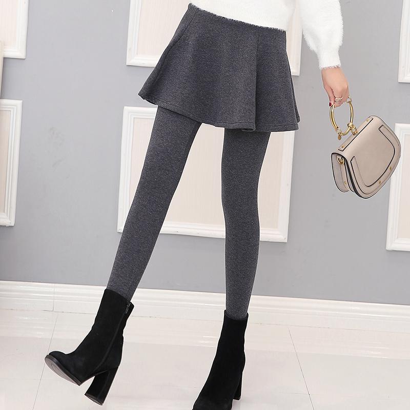 连体加厚打底裙裤