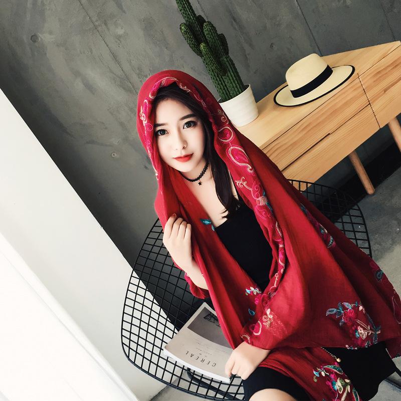 文艺范棉麻围巾
