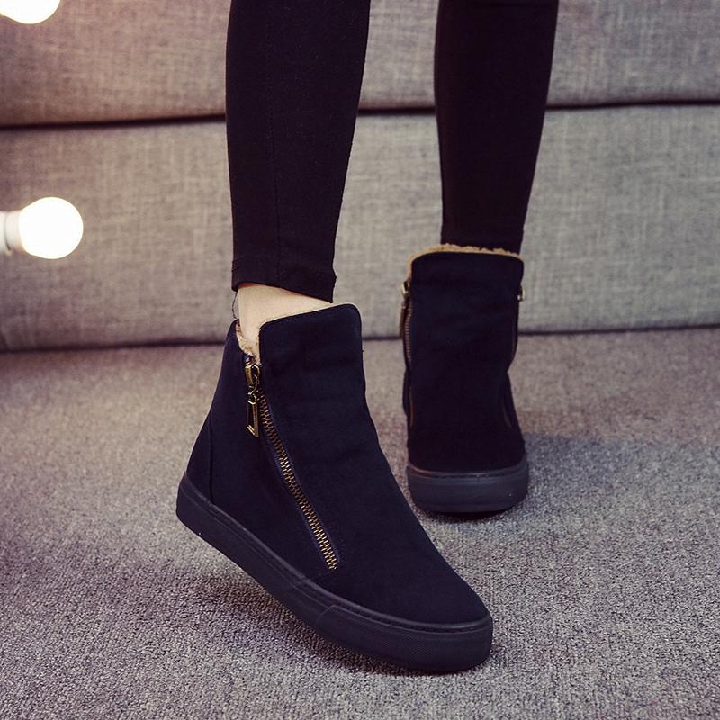 保暖加绒棉靴