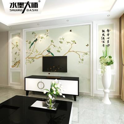 墙布背景墙现代中式新款推荐