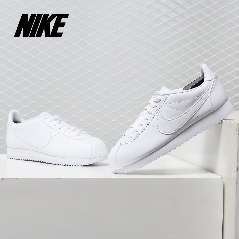 Nike/耐克正品女鞋2019春季新款阿甘运动皮质休闲鞋板鞋807471