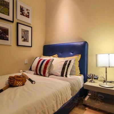 软包儿童床 北欧样板房布艺床 单人软包床 小户型儿童房间储物新年货节