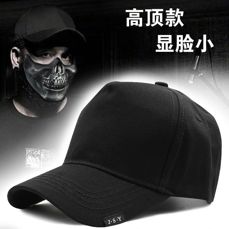 新款棒球帽男春夏季宽帽檐鸭舌帽休闲帽子高顶货车帽大码加深遮