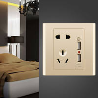 USB socket panel with switch 86 type wall home smart 2.1A mobile phone 5V charging dual USB five-hole socket