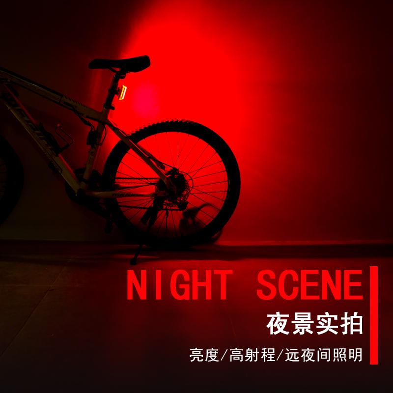 山地自行车尾灯usb充电夜骑公路车led强光警示灯电动摩托车爆闪灯
