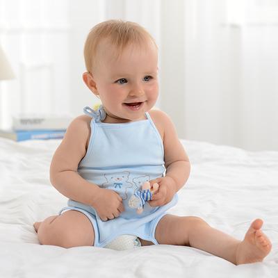 婴儿肚兜夏季棉婴幼儿连脚肚兜薄款初生宝宝儿童护肚新生儿肚兜