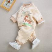 哈衣新生儿衣服0 婴儿连体衣保暖冬季男女宝宝彩棉长袖 天天特价