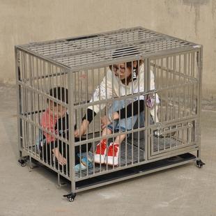 包邮顶面折叠组装不锈钢狗笼大型犬特大号笼子阿拉边牧金毛萨摩笼