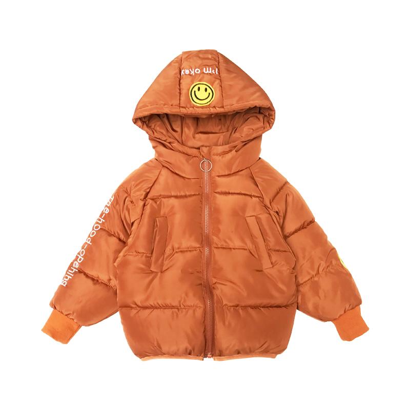 上新儿童棉衣2017冬季新款女童休闲上衣中童纯色开衫宝宝加厚外套