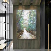 壁画玄关走廊花卉油画沙发背景墙挂画组合画现代简约客厅装饰画