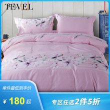Four sets of cotton pure cotton special home textile silo-cleaning sheets on Tang Royal Spinning Bed with 1.8m bed of romantic flowers