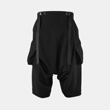 Nosucism 2019 S/S Quick tightens waistline large-capacity pocket low-slack baggy seven-point pants