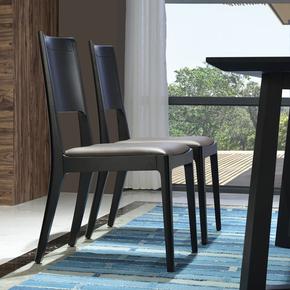 实木餐椅家用成人餐厅椅子现代简约黑色餐桌椅创意休闲软包餐座椅