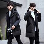 男棉服韩版中长版
