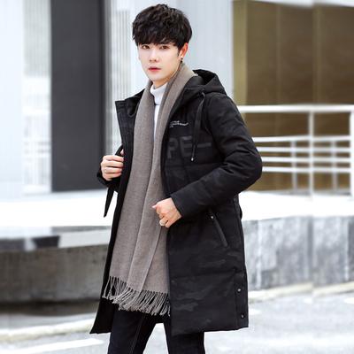 迷彩棉衣男中长款韩版潮流2018新款羽绒棉服冬季棉袄加厚冬天外套