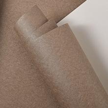 简约素色蚕丝墙纸宾馆酒店餐厅服装 店咖啡店客厅咖色纯色壁纸 时尚