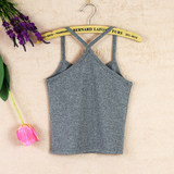 Half-cut bottom shirt wrapped in chest y short vest cotton large size self-cultivation umbilical small sling female summer high waist