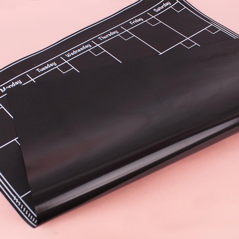 现货磁性黑板墙贴 定制可移除日历冰箱贴标签涂鸦留言板