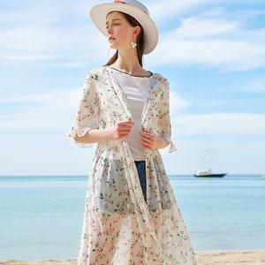 三彩连衣裙2018春季新款两穿中长款潮女雪纺裙吊带两件套超仙夏