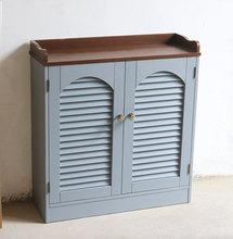 文艺守镜嘏分水器做旧遮挡箱多媒体弱电表遮挡柜定做北欧地中海