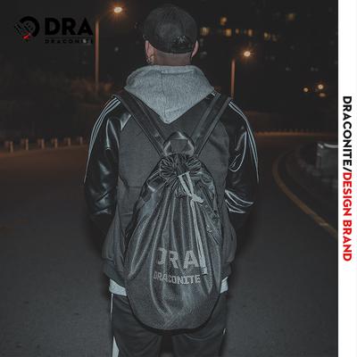DRACONITE潮网袋抽绳水桶包男反光时尚街头休闲双肩背包书包11646