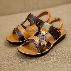 新款儿童夏季凉鞋沙滩鞋凉鞋真皮童鞋男童凉鞋新款儿童鞋